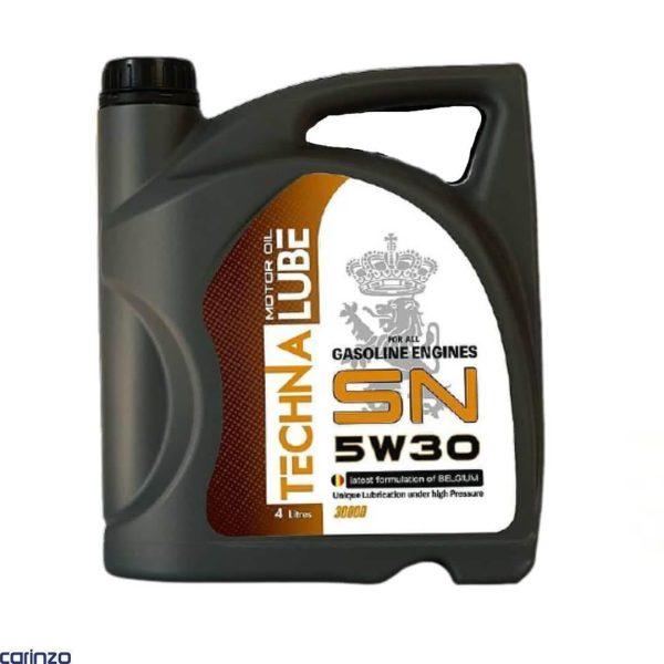 روغن موتور تکنالوب مدل 5W30 SN با حجم 4 لیتر موجود در فروشگاه اینترنتی کارینزو
